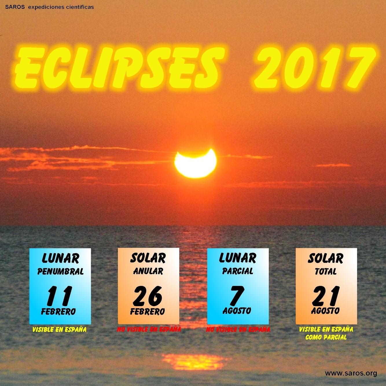 eclipses de Sol y Luna OSAE eclipses en Salamanca y Espaa